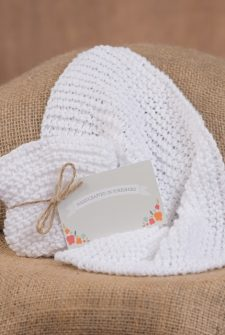 Handcrafted Cotton Dishcloth - White